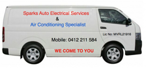 Sparks Auto Electrical and Air Conditioning Service Van